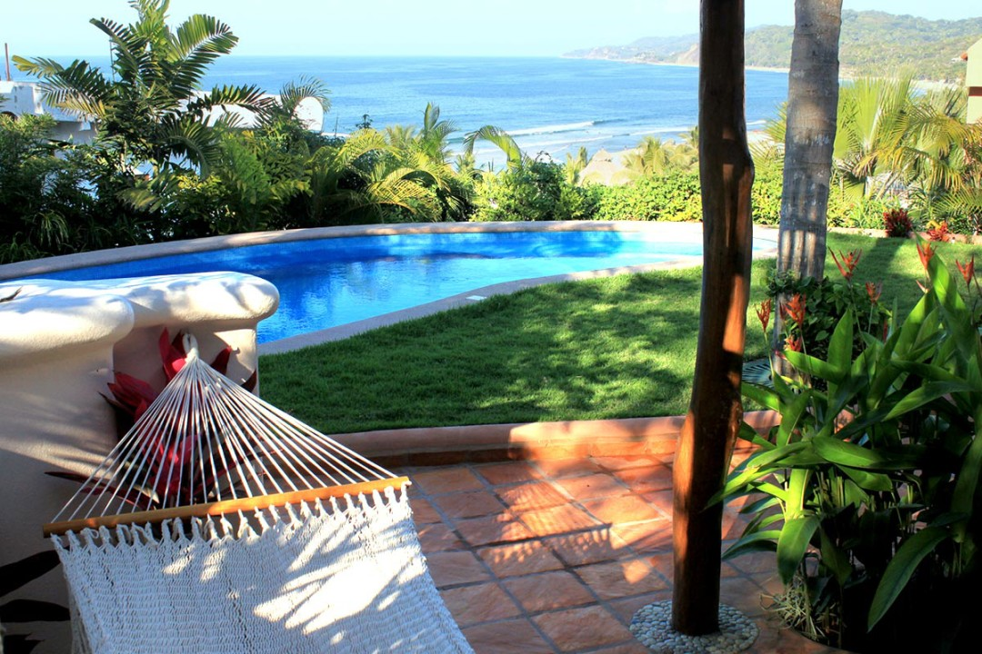 location villa colina is in the perfect location directly above the beach and surf break of sayulita only 1 12 blocks to the beach and town via a